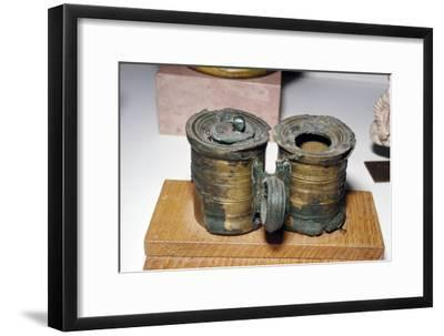 Bronze Roman Inkpots,at Chatillon-sur-Seine. France, c2nd-3rd century-Unknown-Framed Giclee Print