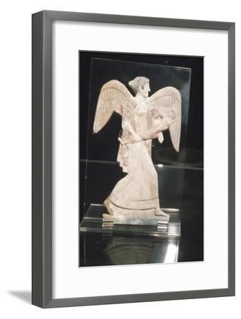 Greek Terracotta, Eos, goddess of Dawn, carries Kephalos, c450 BC-Unknown-Framed Giclee Print