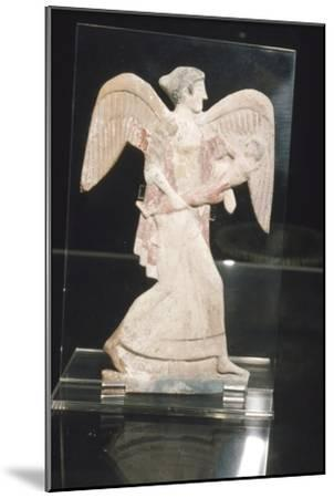 Greek Terracotta, Eos, goddess of Dawn, carries Kephalos, c450 BC-Unknown-Mounted Giclee Print