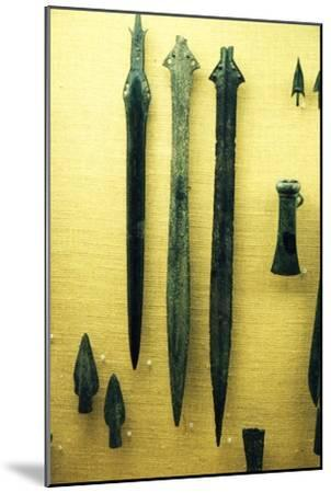 Celtic Bronze Iron Age Sword-Blades from Rive Seine at Paris, c800BC-Unknown-Mounted Giclee Print