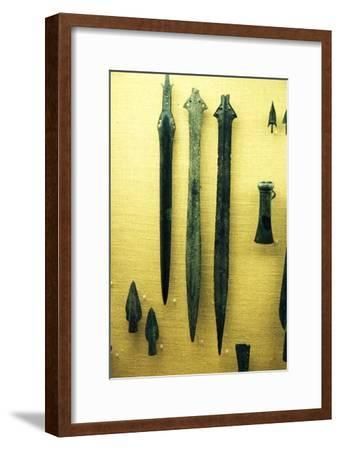 Celtic Bronze Iron Age Sword-Blades from Rive Seine at Paris, c800BC-Unknown-Framed Giclee Print