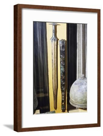 Celtic Bronze Sword and Scabbard (Sheath), France, 8th century BC-Unknown-Framed Giclee Print