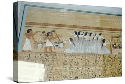Papyrus of Ani, Mourners Ancient Egyptian Funeral Procession, c1250 BC-Unknown-Stretched Canvas Print