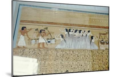 Papyrus of Ani, Mourners Ancient Egyptian Funeral Procession, c1250 BC-Unknown-Mounted Giclee Print