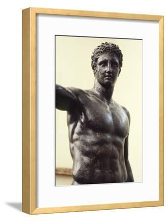 Youth from Antikyther, Bronze found in pieces in sea of Antikythera, c340 BC-Unknown-Framed Giclee Print