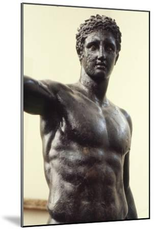Youth from Antikyther, Bronze found in pieces in sea of Antikythera, c340 BC-Unknown-Mounted Giclee Print
