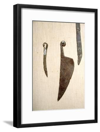 Roman Iron Knives, Alesia, France, c1st century-Unknown-Framed Giclee Print