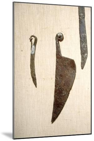Roman Iron Knives, Alesia, France, c1st century-Unknown-Mounted Giclee Print