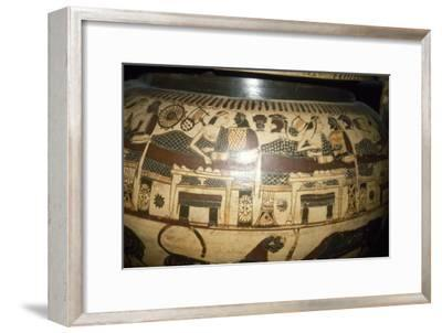 Greek Vase-Painting, A Banquet, possibly Funerary, c5th century BC-Unknown-Framed Giclee Print