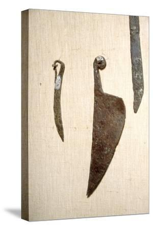 Roman Iron Knives, Alesia, France, c1st century-Unknown-Stretched Canvas Print