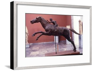 Greek Bronze Horse and Jockey, from Artemision, life-size. 2 Cent BC-Unknown-Framed Giclee Print