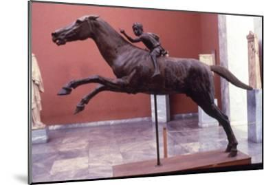 Greek Bronze Horse and Jockey, from Artemision, life-size. 2 Cent BC-Unknown-Mounted Giclee Print
