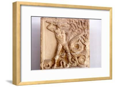 Hercules fights the Lernaean Hydra, Relic from Lerna, 3rd Century BC-Unknown-Framed Giclee Print