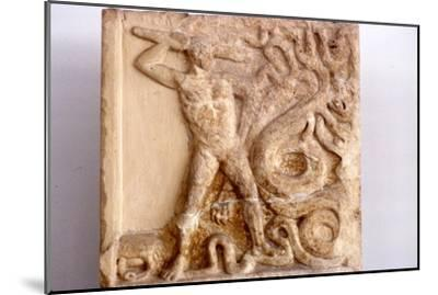 Hercules fights the Lernaean Hydra, Relic from Lerna, 3rd Century BC-Unknown-Mounted Giclee Print