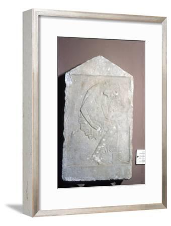 Greece, Sparta, Funeral relief from Geraki in Severe Style, c5th century BC-Unknown-Framed Giclee Print