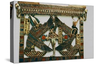 Pectoral Plaque from the Tomb of Tutakhamun, New Kingdom, c1332BC-1323 BC-Unknown-Stretched Canvas Print