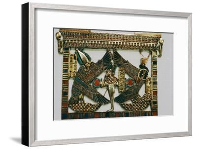 Pectoral Plaque from the Tomb of Tutakhamun, New Kingdom, c1332BC-1323 BC-Unknown-Framed Giclee Print