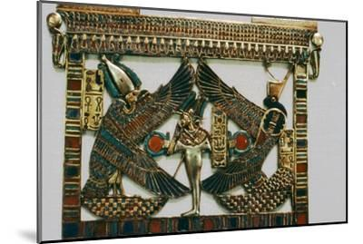 Pectoral Plaque from the Tomb of Tutakhamun, New Kingdom, c1332BC-1323 BC-Unknown-Mounted Giclee Print