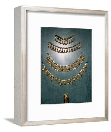 Gold necklaces and bracelets, Ancient Egyptian, 1st millennium BC-Unknown-Framed Giclee Print