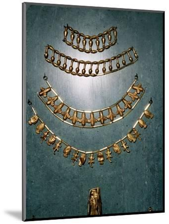Gold necklaces and bracelets, Ancient Egyptian, 1st millennium BC-Unknown-Mounted Giclee Print
