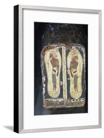 Egyptian Painting of Captives on Feet of Mummy of a Pharaoh-Unknown-Framed Giclee Print