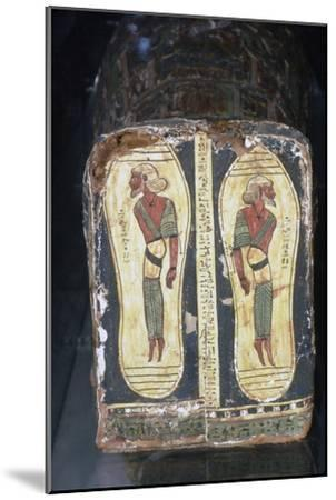 Egyptian Painting of Captives on Feet of Mummy of a Pharaoh-Unknown-Mounted Giclee Print