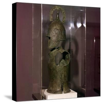 Bronze Helmet and Cuirass, late Geometric period, 8th century BC-Unknown-Stretched Canvas Print