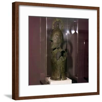 Bronze Helmet and Cuirass, late Geometric period, 8th century BC-Unknown-Framed Giclee Print