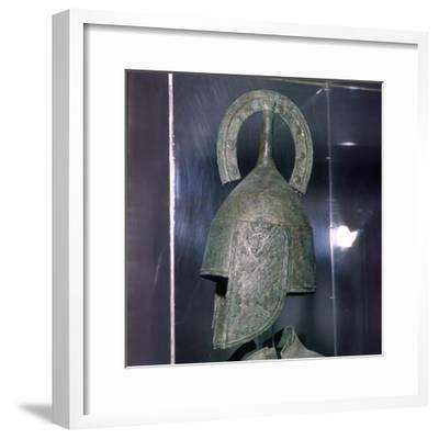 Bronze Helmet of Hoplite, 7th century BC-Unknown-Framed Giclee Print
