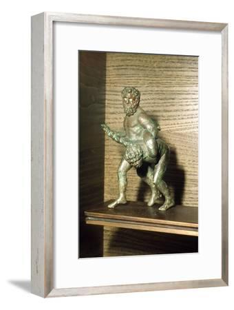 Louvre Wrestlers in Bronze, c2nd century BC-Unknown-Framed Giclee Print