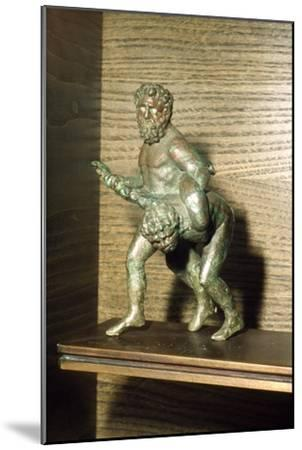 Louvre Wrestlers in Bronze, c2nd century BC-Unknown-Mounted Giclee Print