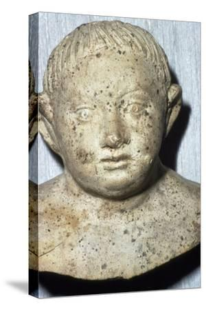 Roman Pipeclay Head of Child from Roman grave at Colchester, Essex, c2nd-3rd century-Unknown-Stretched Canvas Print