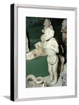 Pipeclay Figure from a Roman Grave, at Colchester, Essex, c60 AD-Unknown-Framed Giclee Print