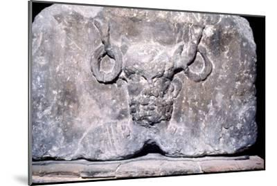 Cernunnos, the Celtic Horned God from the Pillar of the Boatmen of Paris, AD14-37-Unknown-Mounted Giclee Print