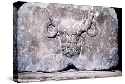 Cernunnos, the Celtic Horned God from the Pillar of the Boatmen of Paris, AD14-37-Unknown-Stretched Canvas Print