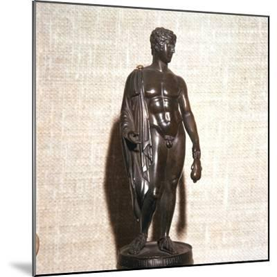 Mercury holding a purse, carrying a traveller's cloak. Roman brronze, 1st century-Unknown-Mounted Giclee Print
