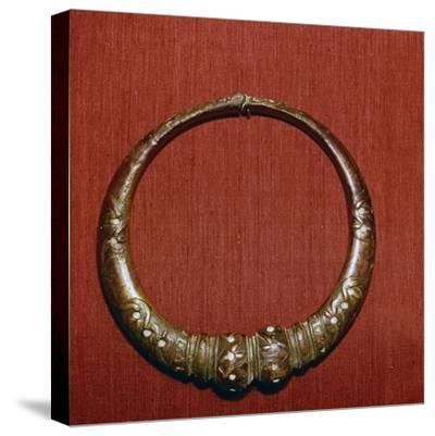 Celtic Bronze collar, (Torc) from Roxburghshire, Scotland, c1st Century-Unknown-Stretched Canvas Print