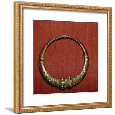 Celtic Bronze collar, (Torc) from Roxburghshire, Scotland, c1st Century-Unknown-Framed Giclee Print