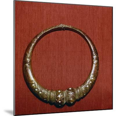 Celtic Bronze collar, (Torc) from Roxburghshire, Scotland, c1st Century-Unknown-Mounted Giclee Print