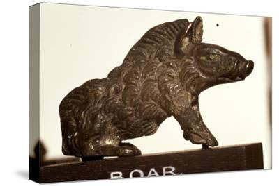 Bronze Boar found at Colchester, Essex, Roman Period, c2nd-3rd century-Unknown-Stretched Canvas Print