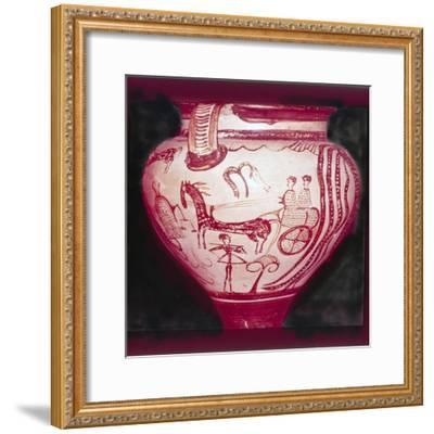 Mycenaean 'Zeus' Crater, 14th Century BC-Unknown-Framed Giclee Print