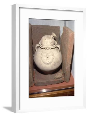 Roman Burial (Cremation) in a face urn, Colchester, Essex c125-200-Unknown-Framed Giclee Print