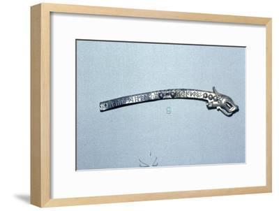 Runic inscription on Anglo-Saxon Silver-Gift Mount, c7th century-Unknown-Framed Giclee Print