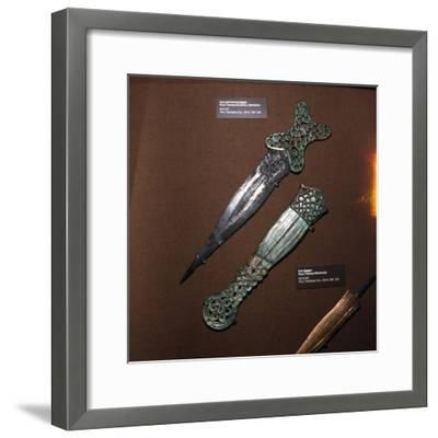 Celtic Dagger and Sheath in Iron and Bronze, c600BC-c550BC-Unknown-Framed Giclee Print