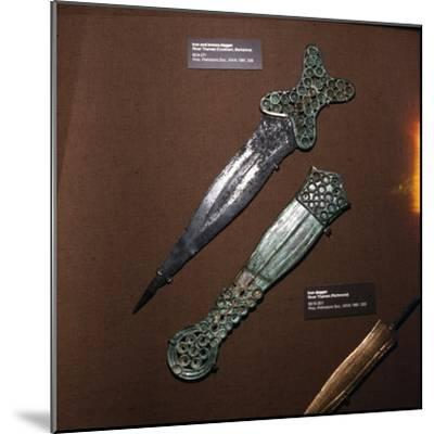 Celtic Dagger and Sheath in Iron and Bronze, c600BC-c550BC-Unknown-Mounted Giclee Print