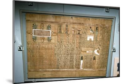 Papyrus of Ani, c1250 BC-Unknown-Mounted Giclee Print