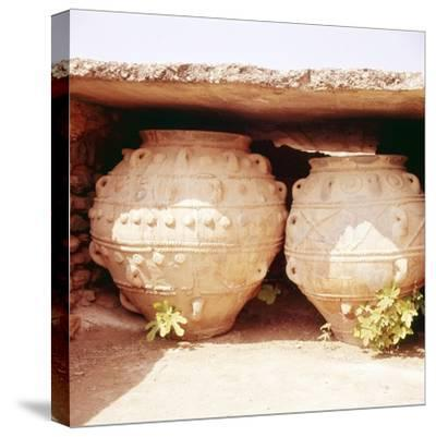 Minoan Kamares Style jug, c2000 BC-Unknown-Stretched Canvas Print