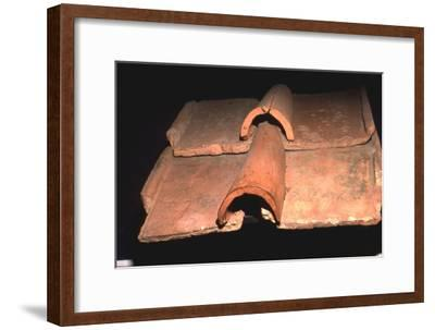 Roman Roof-Tiles, Fishbourne Roman Villa, Sussex, c1st century-Unknown-Framed Giclee Print