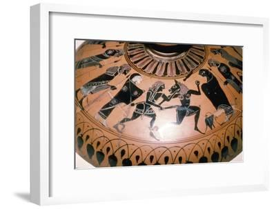 Theseus and the Minotaur on the lid of a Greek Dish, c5th century BC-Unknown-Framed Giclee Print