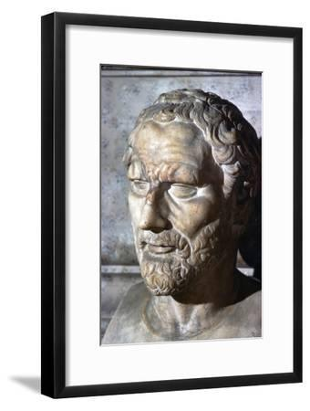 Demosthenes. Greek Orator & Statesman, 384-322 BC-Unknown-Framed Giclee Print